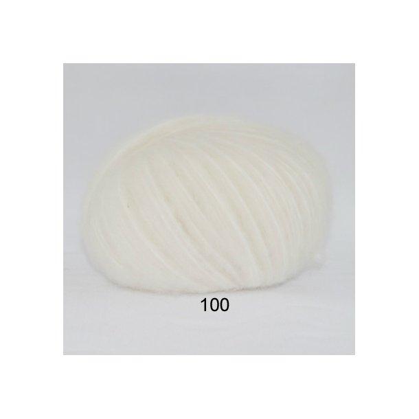 Børstet uld hvid