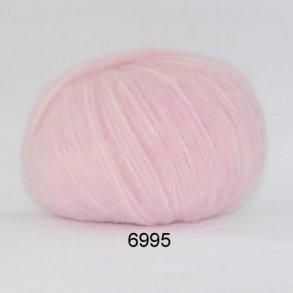 Hjertegarn børstet uld