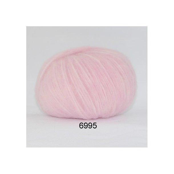 Børstet uld lyserød