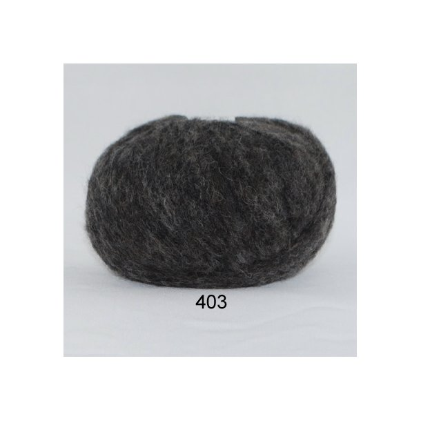 Børstet uld mørkegrå