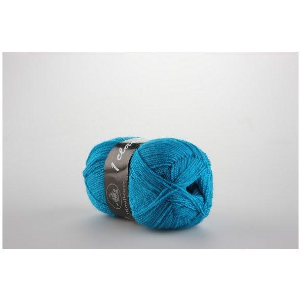 Strømpegarn turkisblå