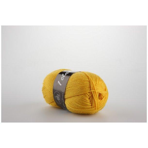 Strømpegarn gul