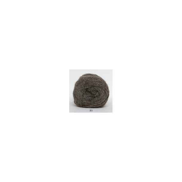 Hjerte Alpaca 211 lysbrun melange