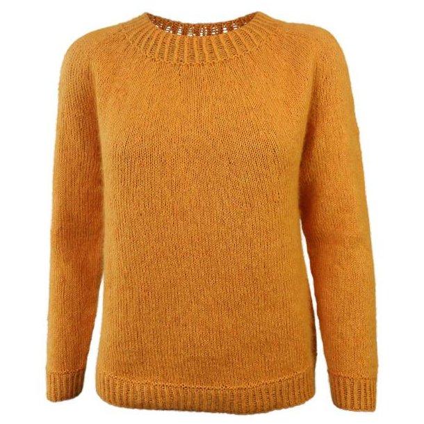 Enkel gul strikkekit / Hanne Larsen