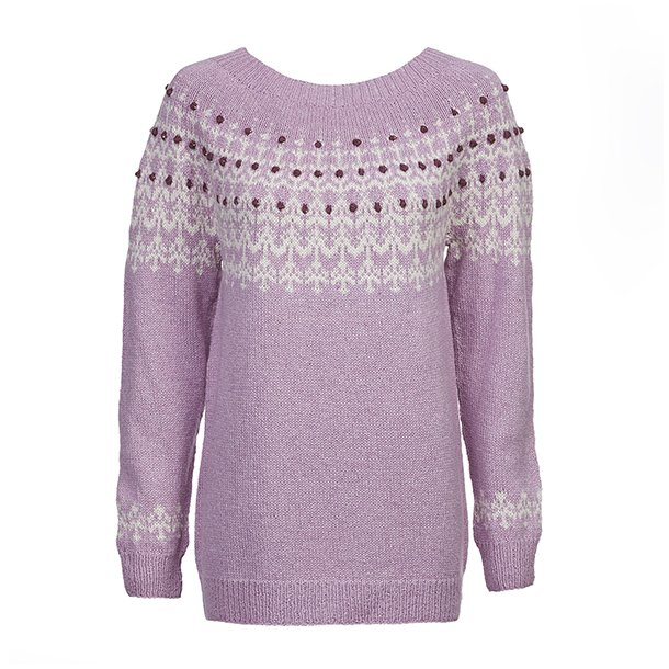 Hallon lyserød strikkekit / Hanne Rimmen