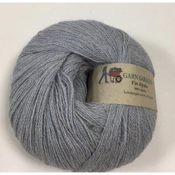 Superfin alpaka lyseblå