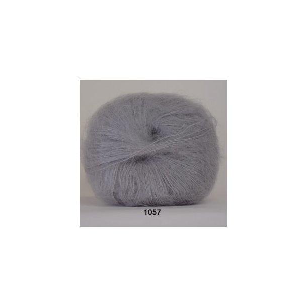 Silk kid mohair grå