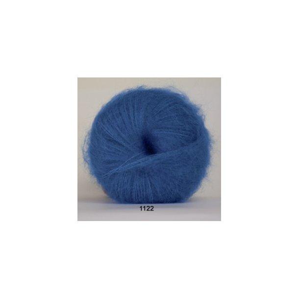 Silk kid mohair mellemblå
