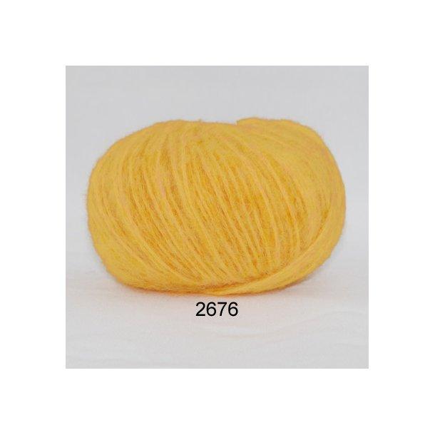 Børstet uld klar gul