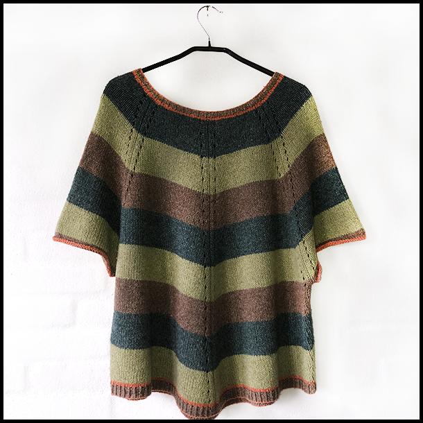 Sommertrøjen grøn strikkekit / Lotte K. Strik